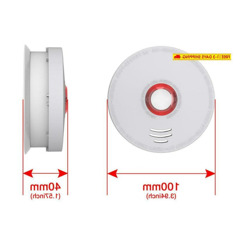 Photoelectric Smoke Detector, 2 Pack Fire Alarm With Ul Listed Gs528A Ba