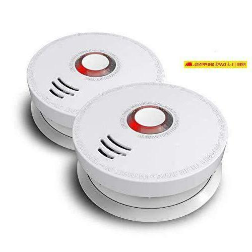photoelectric smoke detector 2 pack fire alarm