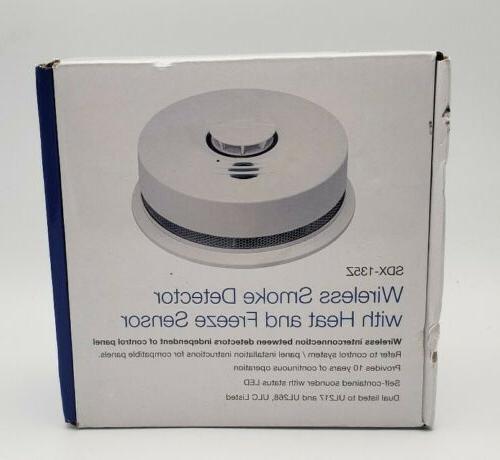 sdx 135z wireless smoke detector with heat