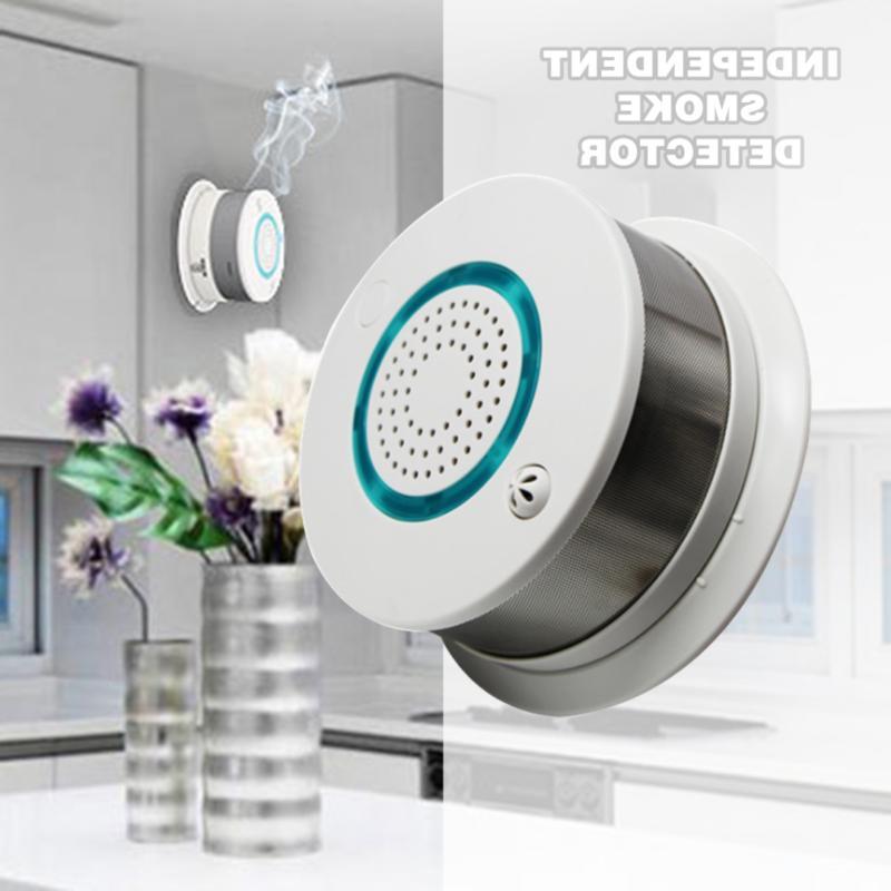 smart wireless wifi fire smoke detector temperature