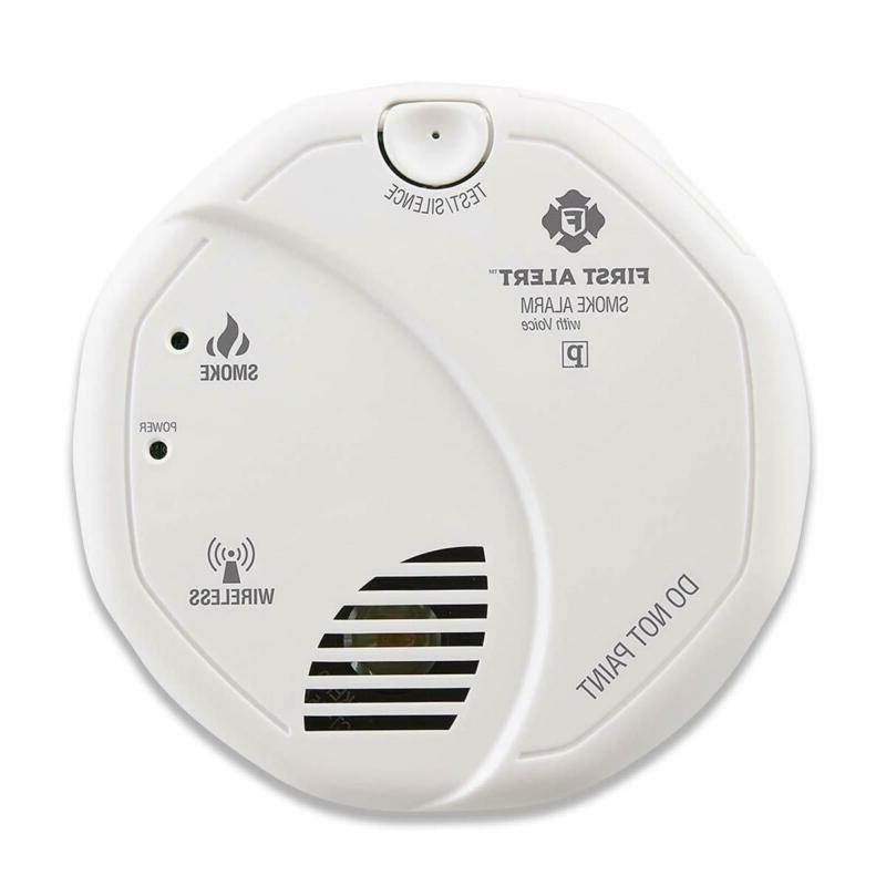 smoke detector alarm battery powered with wireless