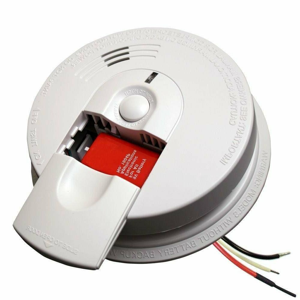 Smoke Alarm Detector Hardwired Fire Combo Sensor Battery