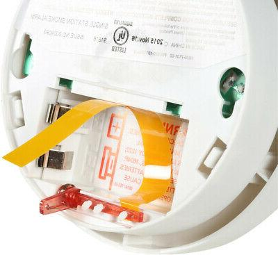 Smoke Alarm Detector Sensor Battery Fire