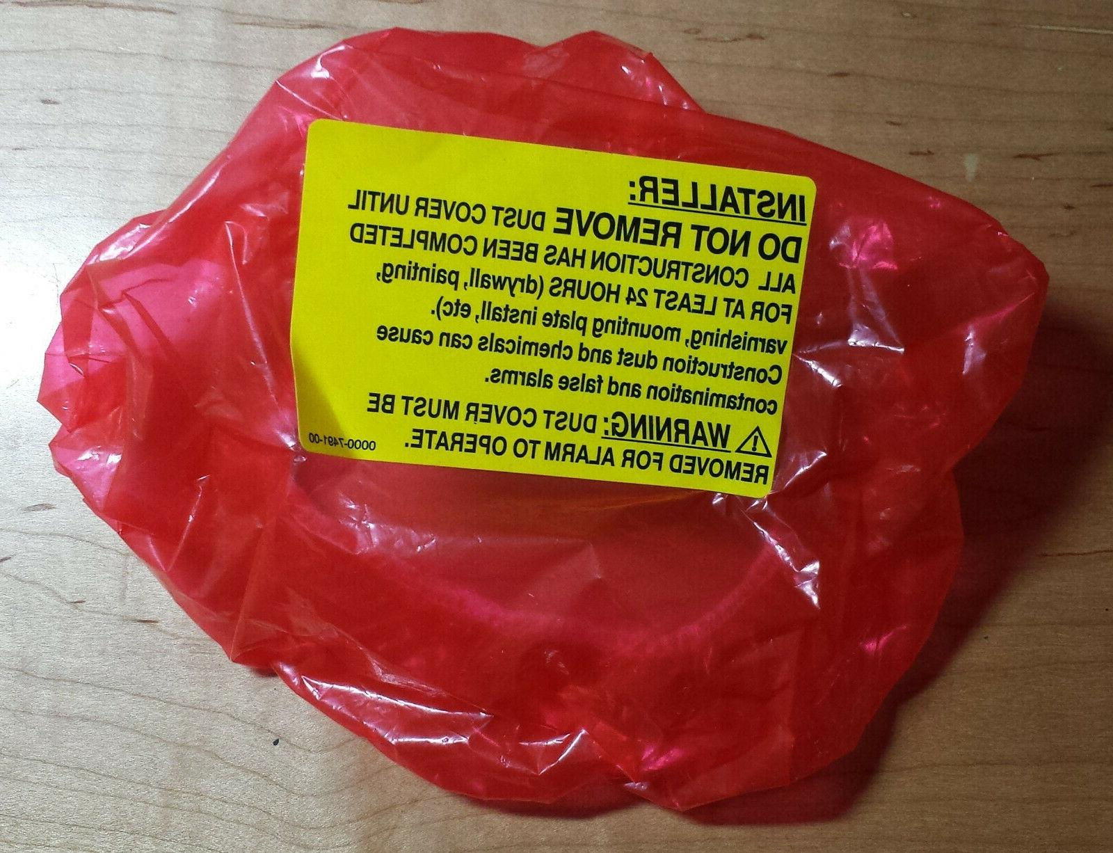 smoke alarm dust cover red plastic electrical