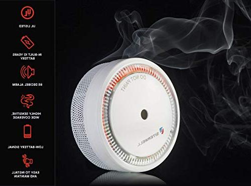 Smoke Listed, 10 to Install Mini Alarm