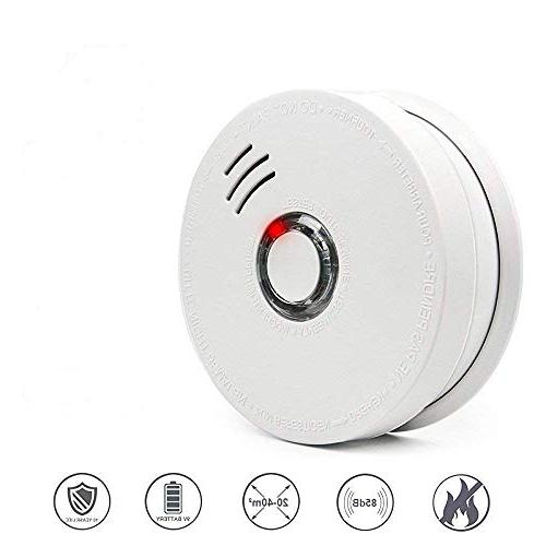 Smoke Alarms, Photoelectric Detector with Light Sound 9V Battery Powered Safety School etc Certification