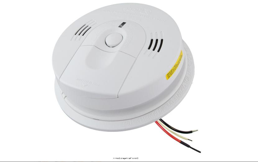 Smoke and Carbon Monoxide Alarm 120-Volt Hardwired Interconn