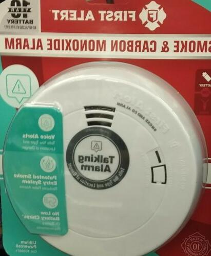 smoke and carbon monoxide talking alarm detector