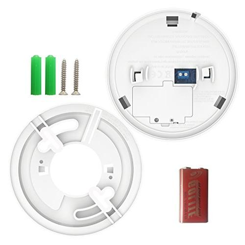 Smoke & Carbon Monoxide Alarm, THZY Operated Carbon Monoxide with Sound LED Back-up,