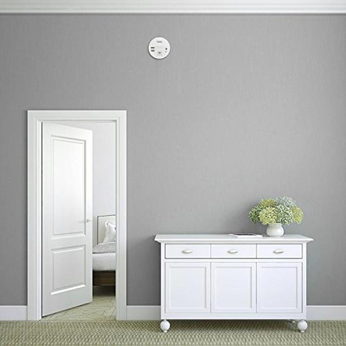 Smoke Alarm, THZY Carbon with Warning LED Light Indicator,9V Back-up, White