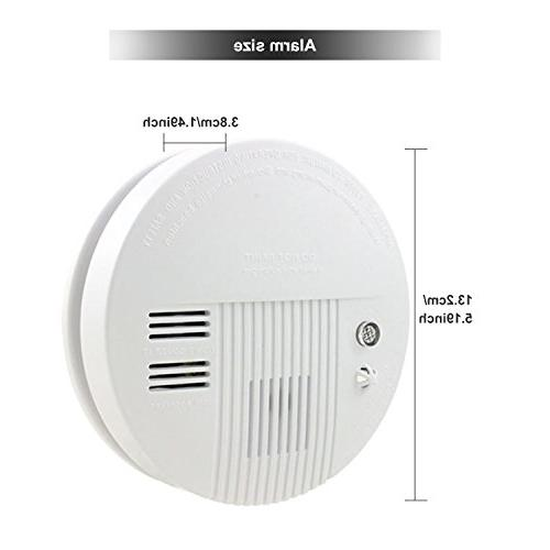 Smoke Carbon Alarm, Battery Carbon CO with and LED Light Back-up, White
