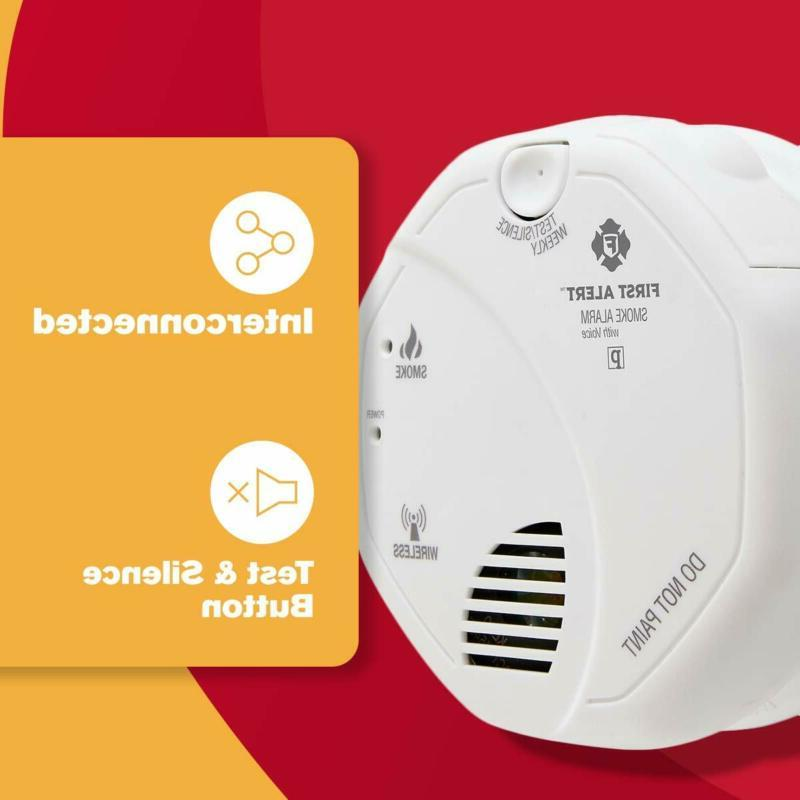 First Alert Smoke Detector Alarm | with Wireless Interconnect