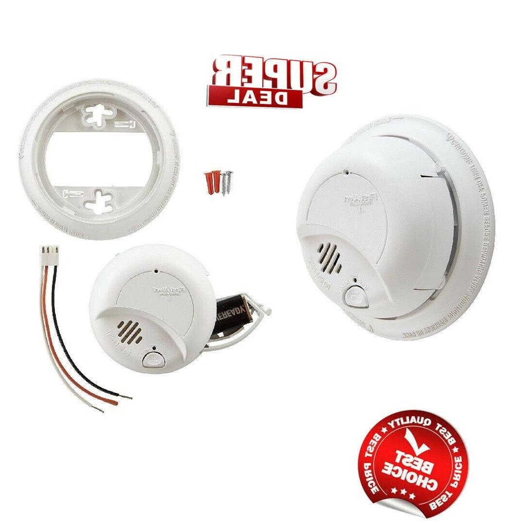 First Alert Smoke Detector Alarm Hardwired w/ Backup Battery
