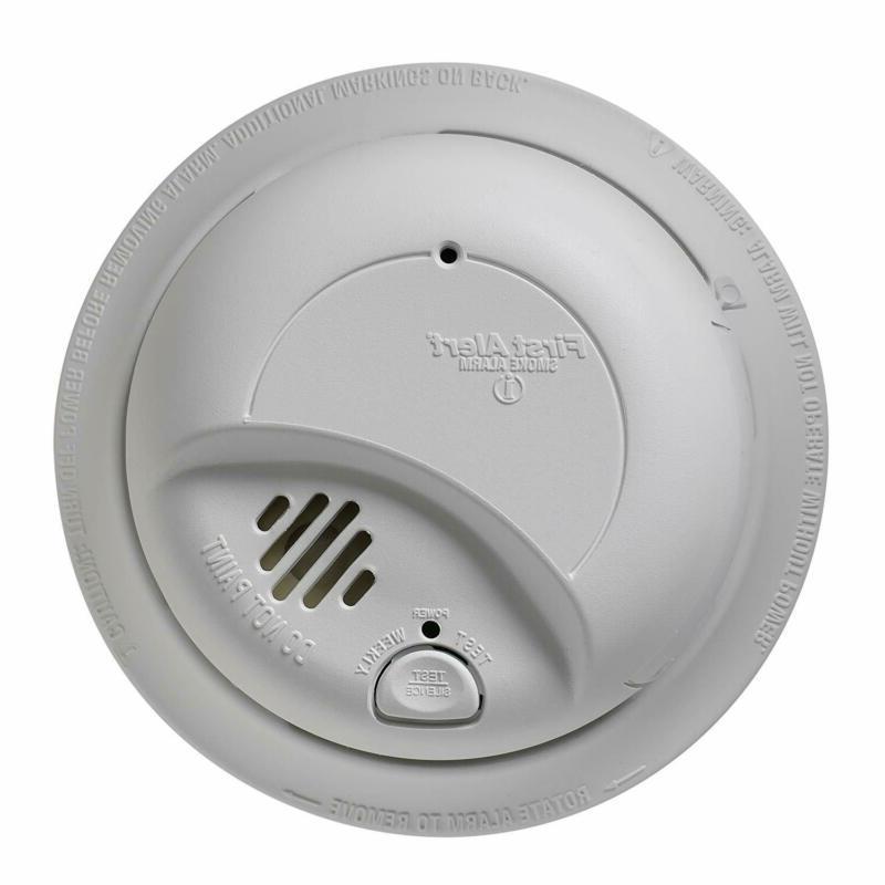 First Alert Smoke Detector Alarm | Hardwired With Backup Bat