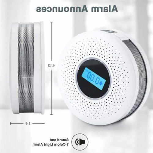 Smoke Detector and Carbon Monoxide Detector LCD Auto-Check