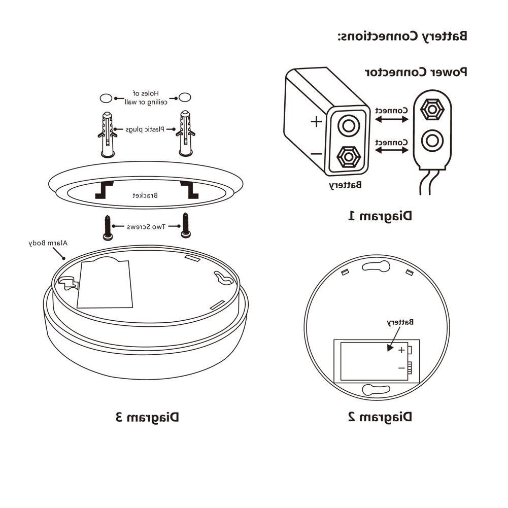 Siterwell Smoke Detector and Fire Photoelectric Alarms