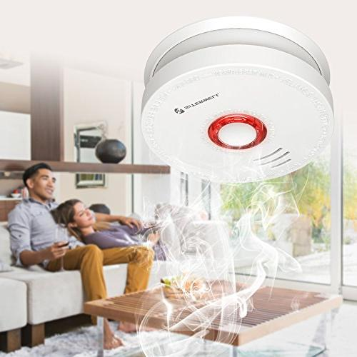 2 Pack Smoke Detector and Battery Operated and Fire Years with Battery