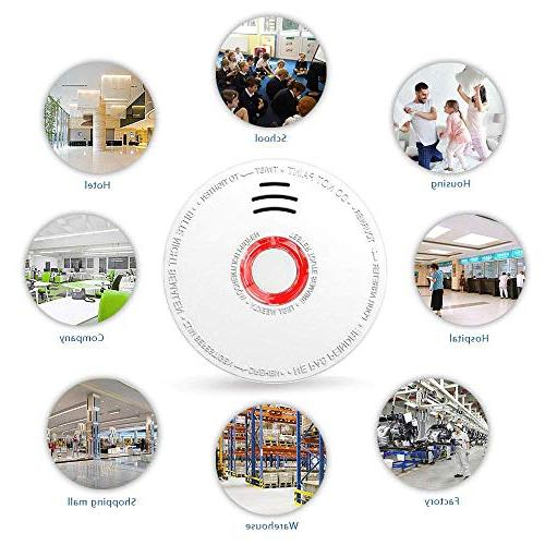 SITERWELL Fire Alarm DC 9V Battery Photoelectric Smoke Alarm Test Button, Fire Detector Hotel etc.