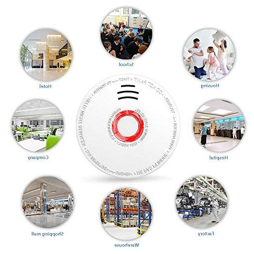 Smoke Detector and Alarm 4 Pack Photoelectric to Install With UL Sound Warning, for Hotel School