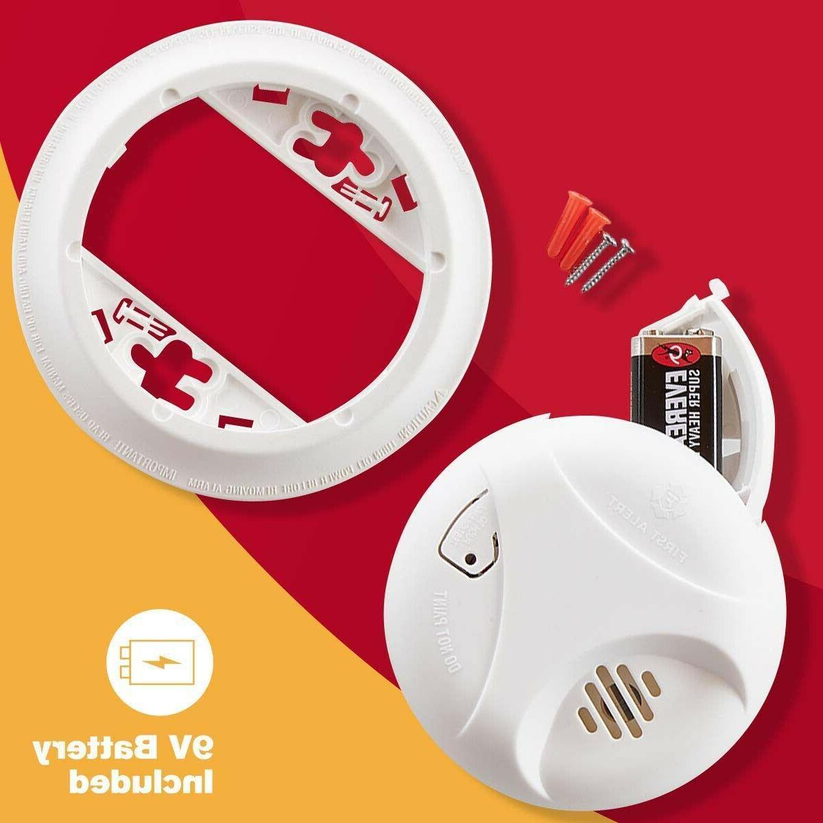First Alert Detector Fire Alarm Sensor Notifier with Mute Feature