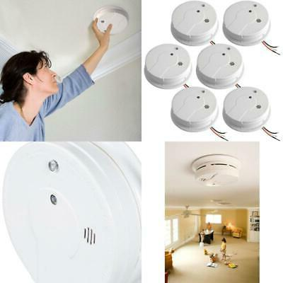 Smoke Detector Hardwire Alarm 9V Battery Backup Home Protect