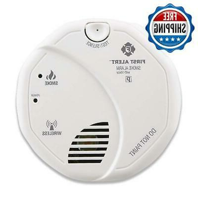 Smoke Detector With Alarm 2 AA Operated 2-Pack Safety
