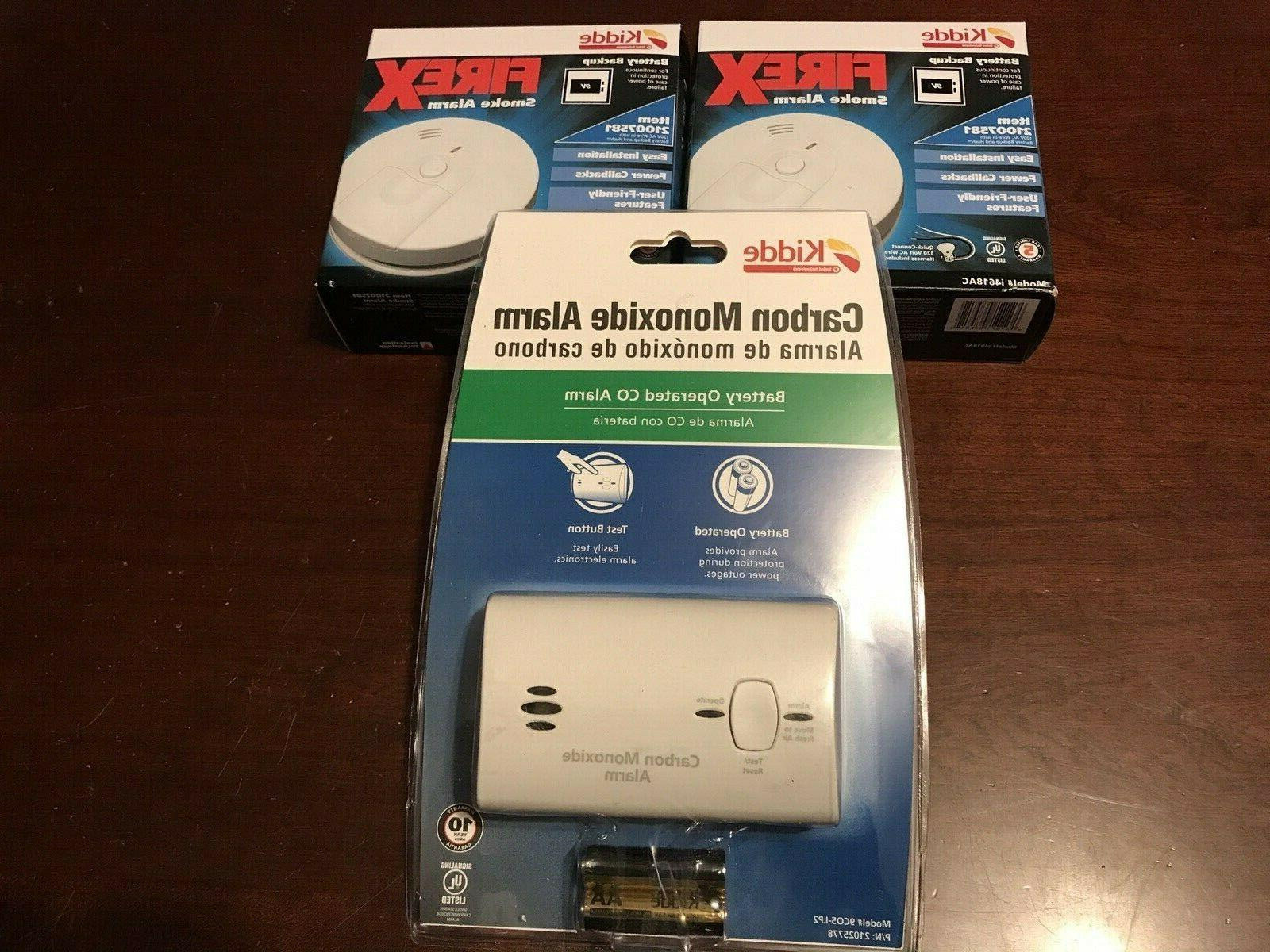 smoke detectors i4618ac and carbon monoxide detector