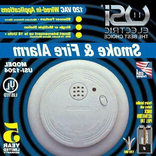 1204 wire in smoke alarm with battery