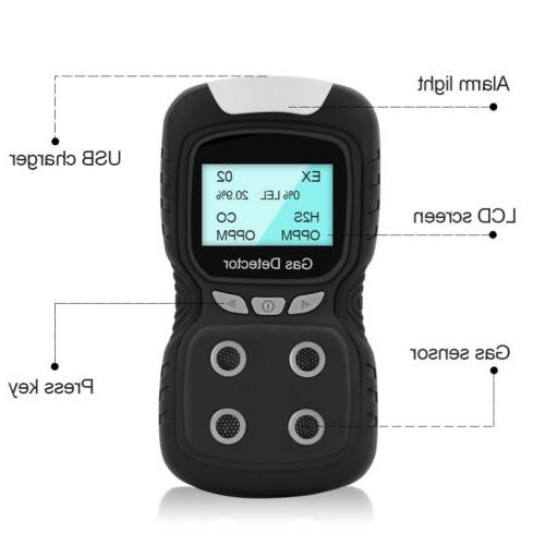 us portable gas detector 4 gas monitor