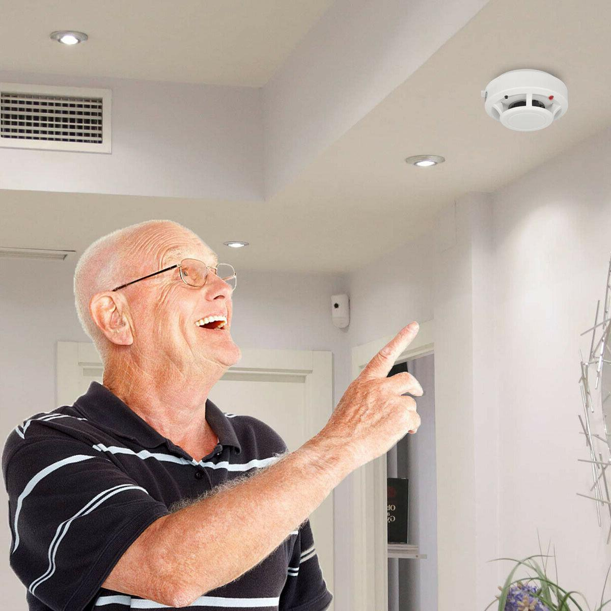 US Smoke Carbon Monoxide Warn Alarm Gas Security Monitor RF
