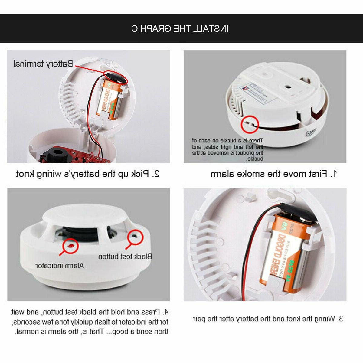 US Monoxide Detector Warn Gas Security Monitor RF