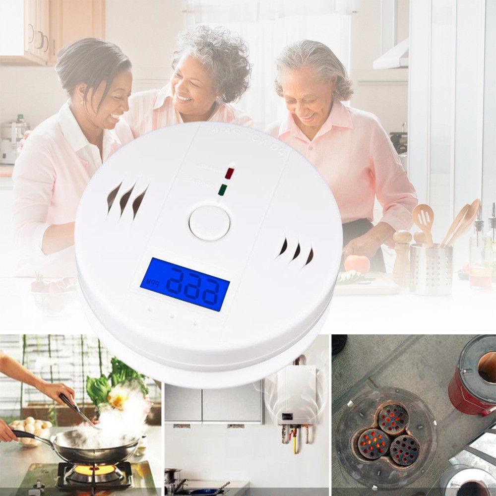 Carbon Monoxide And Smoke Detector Combo Alarm Sound Gas Sen