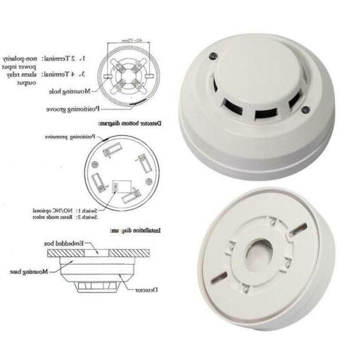 wired network photoelectric optical smoke detector alarm