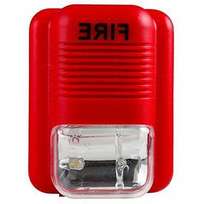 wired sound light fire alarm