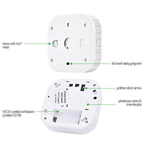 Wireless Detector Alarm Battery Home Security Guarding System