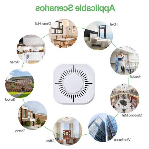 Wireless Fire Detector Alarm Battery Security