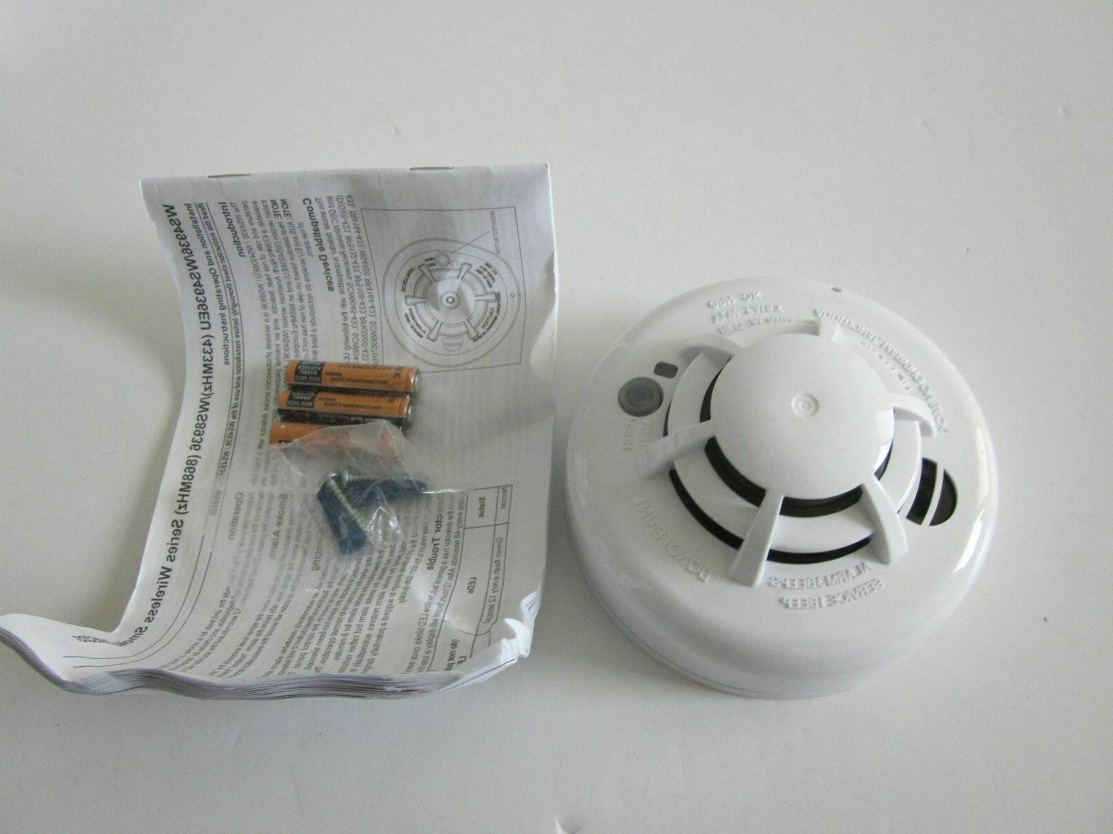 DSC Photoelectric Smoke Detector Alarm WS4936 IN BOX