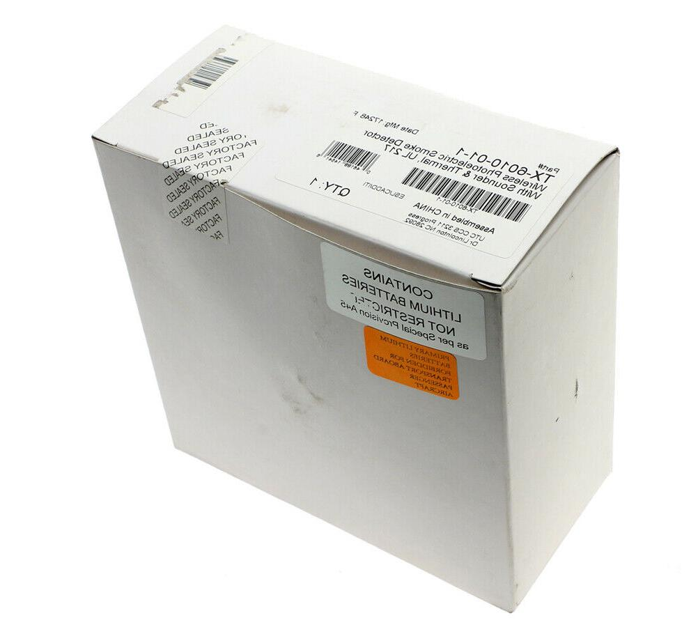 Interlogix Wireless Smoke Detector W/ Sound Thermal NEW