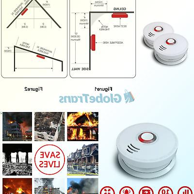 wireless smoke detector 2 pack photoelectric fire