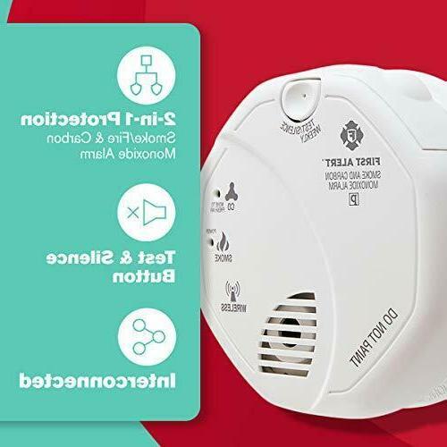 First Alert ZCOMBO 2-in-1 Smoke Z-Wave Combo Alarm, Null