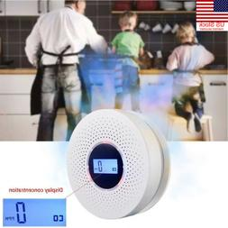 LCD Carbon Monoxide Detector and Smoke Alarm with Voice Warn