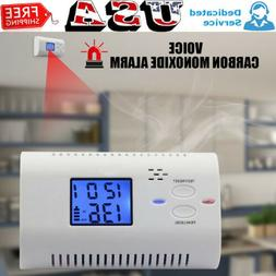 LCD CO Carbon Monoxide Gas Alarm Sensor Poisoning Smoke Test