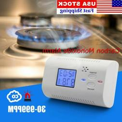 LCD Digital Smoke Alarm Carbon Monoxide CO Gas Sensor Detect