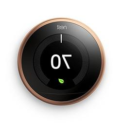 Brand New Nest Learning Thermostat 3rd Generation COPPER T30