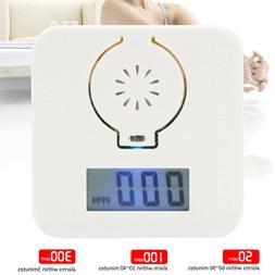 Mini CO Carbon Monoxide & Smoke Detector Alarm Poisoning Gas