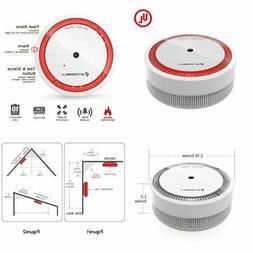mini smoke detector battery operated photoelectric micro
