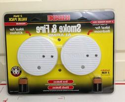 NEW Kidde 2 Pack Smoke Detector & Fire Alarm 0916 Hush Butto