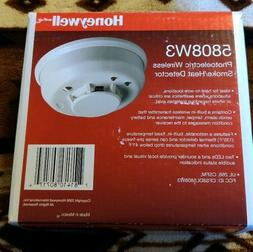 New Honeywell 5808W3 Photoelectric Wireless Smoke Heat Detec