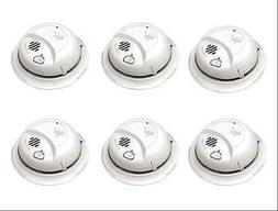 NEW 6-Pack Easy-Installation AC-wired 120-Volt Fire Sensor S