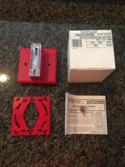 *New* Gentex Fire Alarm Strobe Model GXS-4-1575-CR Red Ceili